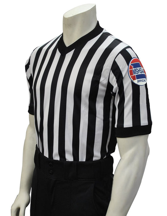MSHSAA Body-Flex Dye-Sublimated Basketball Men's Referee Shirt with 3