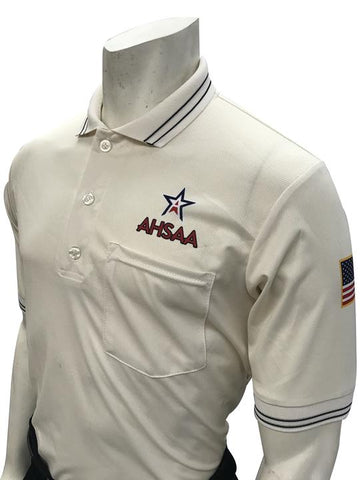 AHSAA Baseball/Softball Umpire Short Sleeve Shirt - Cream