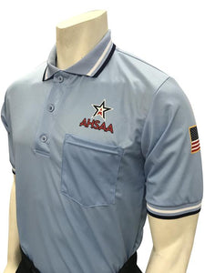 AHSAA Baseball/Softball Umpire Short Sleeve Shirt - Powder Blue