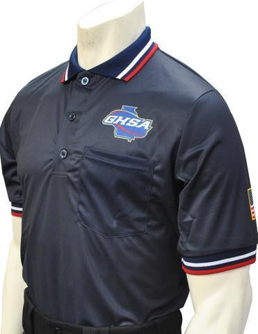 GHSA Softball/Baseball Umpire Short Sleeve Shirt - Navy