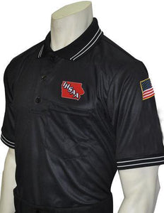 IHSAA Baseball Black Umpire Short Sleeve Shirt