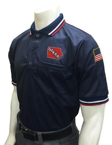 IHSAA Baseball/Softball Navy Umpire Short Sleeve Shirt