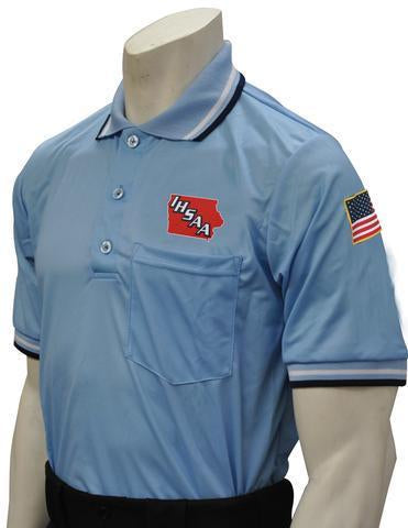 IHSAA Baseball/Softball Powder Blue Umpire Short Sleeve Shirt