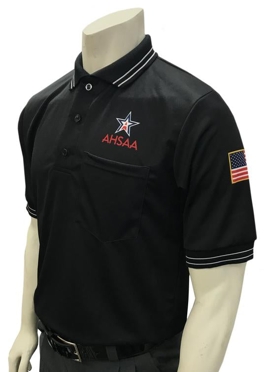 AHSAA Baseball/Softball Umpire Short Sleeve Shirt - Black
