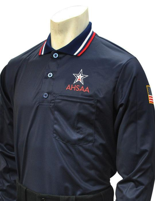 AHSAA Baseball/Softball Umpire Long Sleeve Shirt - Navy