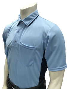 "Smitty ""Major League"" Style Umpire Shirt - Powder Blue"