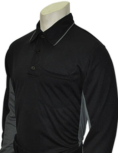 "Smitty ""Major League"" Style Umpire Long Sleeve Shirt - Black"