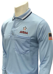 AHSAA Baseball/Softball Umpire Long Sleeve Shirt - Powder Blue