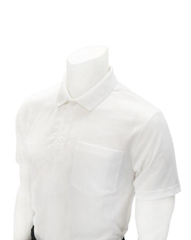 Volleyball Men's White Mesh Shirt with Pocket