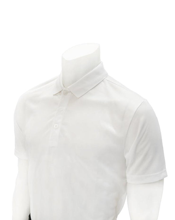 Volleyball Men's White Mesh Shirt with No Pocket