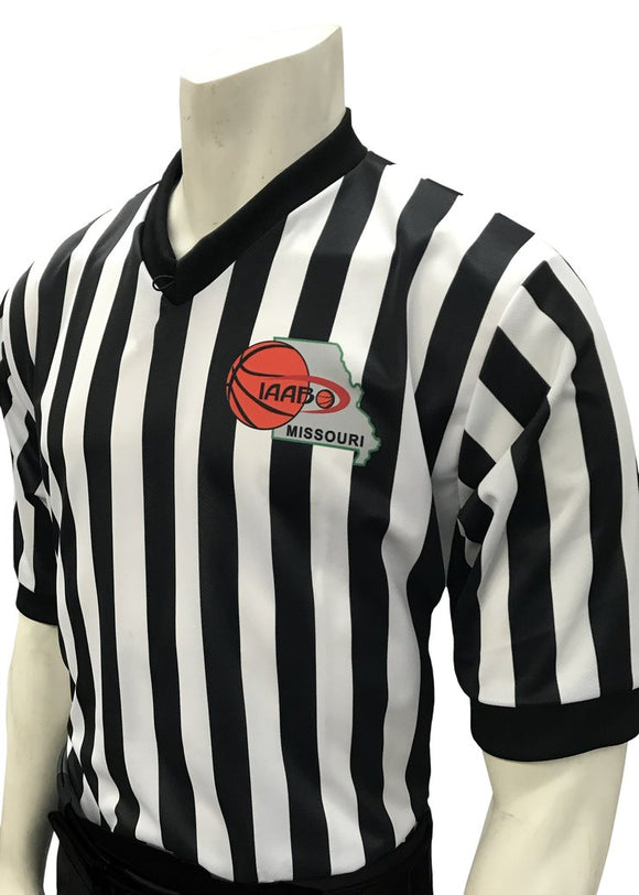 IAABO Missouri Body-Flex Dye-Sublimated Basketball Men's Referee Shirt
