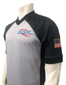 "NEW Grey GHSA Basketball ""Body-Flex"" Men's Referee Shirt"