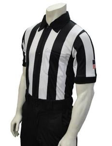"2 1/4"" Body-Flex Football Short Sleeve Shirt with Flag on Left Sleeve"