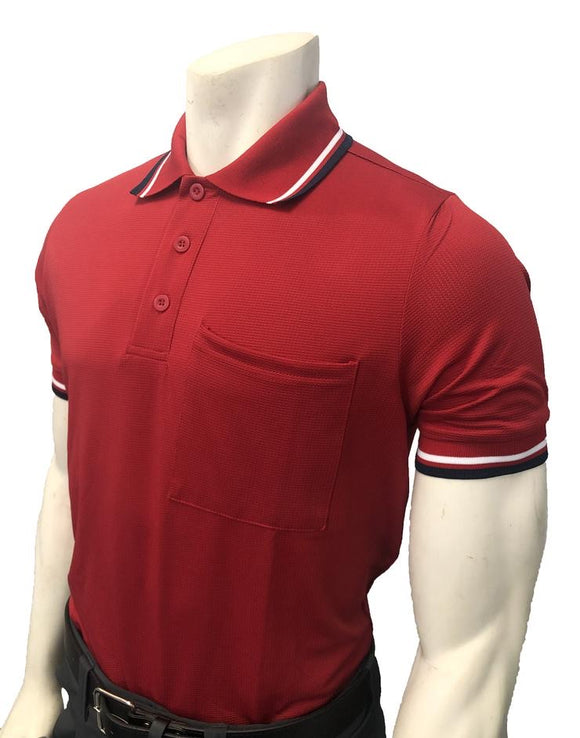 NEW Traditional Body-Flex Umpire Short Sleeve Shirt - Red