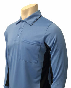 "Smitty ""Major League"" Body-Flex Style Umpire Long Sleeve Shirt - Sky Blue"