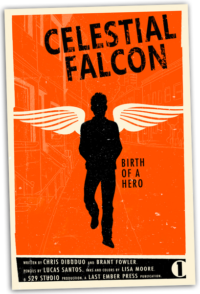 Limited Edition Celestial Falcon Vintage Poster (Only 20 Available!)