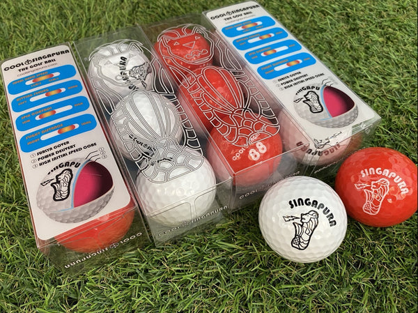 COOL SINGAPURA 3-PIECE GOLF BALL (RED) - Leyouki