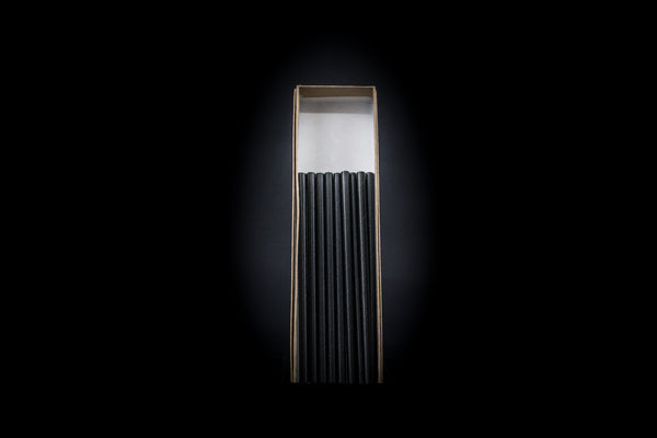 Black Cocktail Unwrapped Paper  Straws 5.75 in By Seastraws