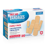 Lucky Super Soft First Aid Bandage - 100 Count By Delta Brands