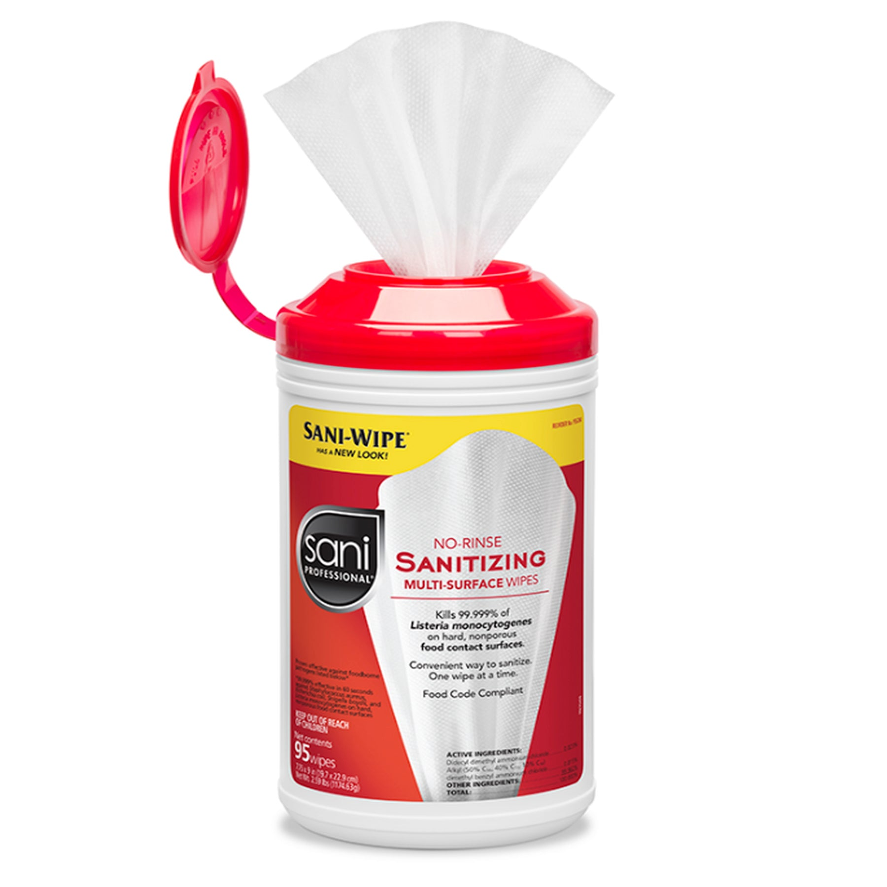 No-Rinse Sanitizing Multi-Surface Wipes By Sani Professional No-Rinse Sanitizing Multi-Surface Wipes By Sani Professional 95 wipes