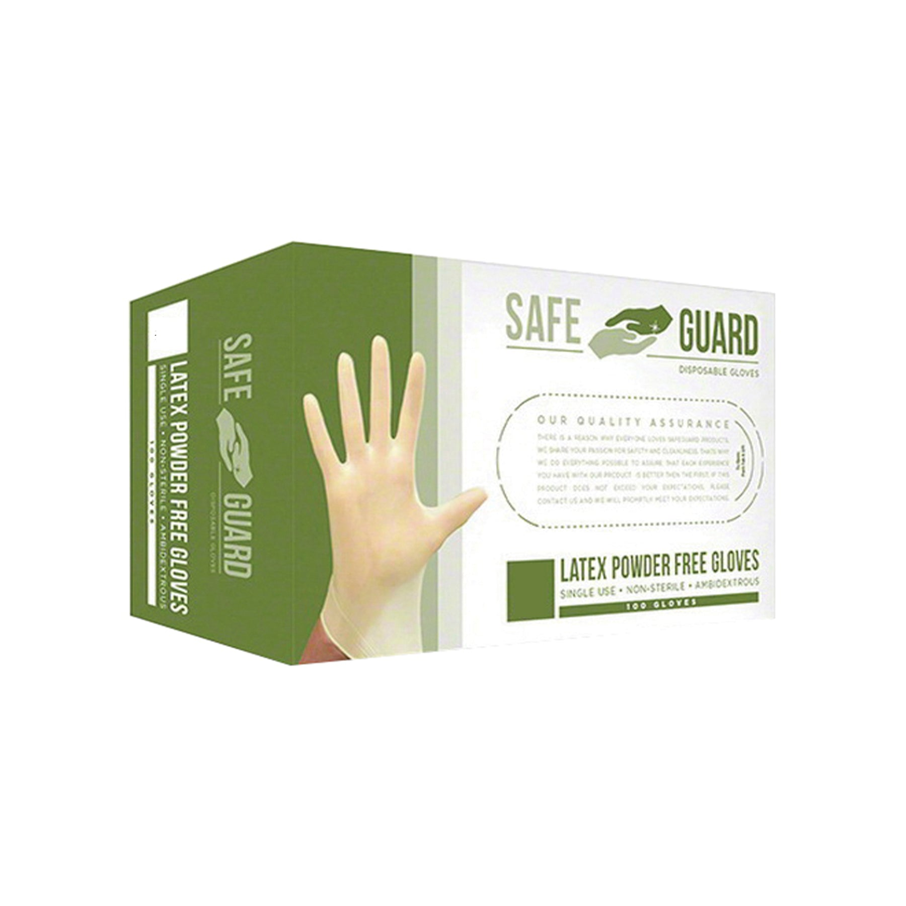 Powder Free Disposable Latex Gloves By SAFEGUARD