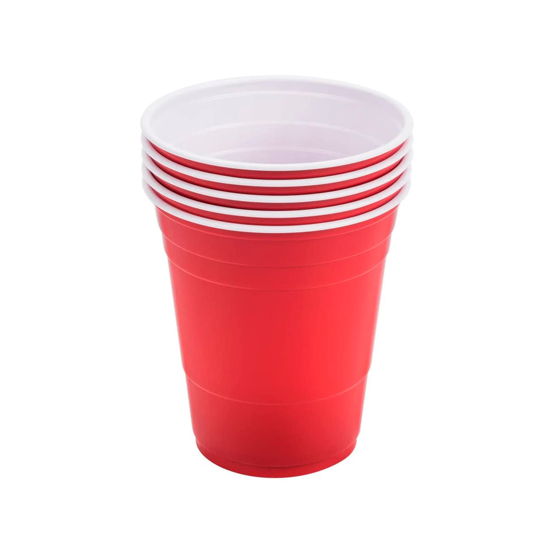 Red Plastic Cold Cup 16oz, 100 Pcs, Solo