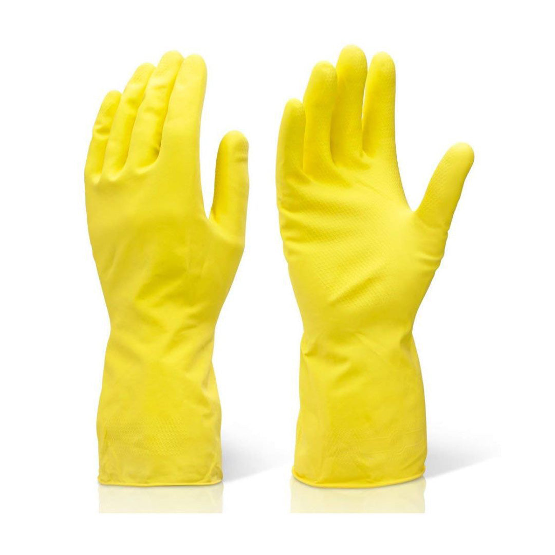 Yellow Natural Latex Flock Lined Gloves - 1 Per Pack By Hygrade Safety