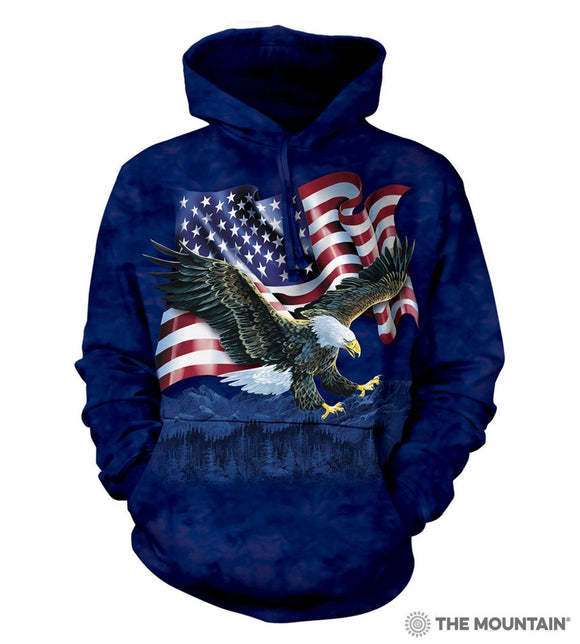 Eagle Talon Flag Animal Hoodie Sweatshirt The Mountain