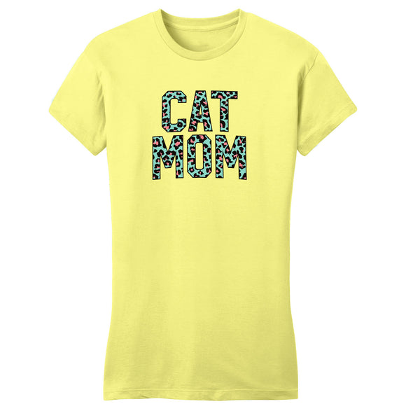 Cat Mom Print Ladies T-Shirt