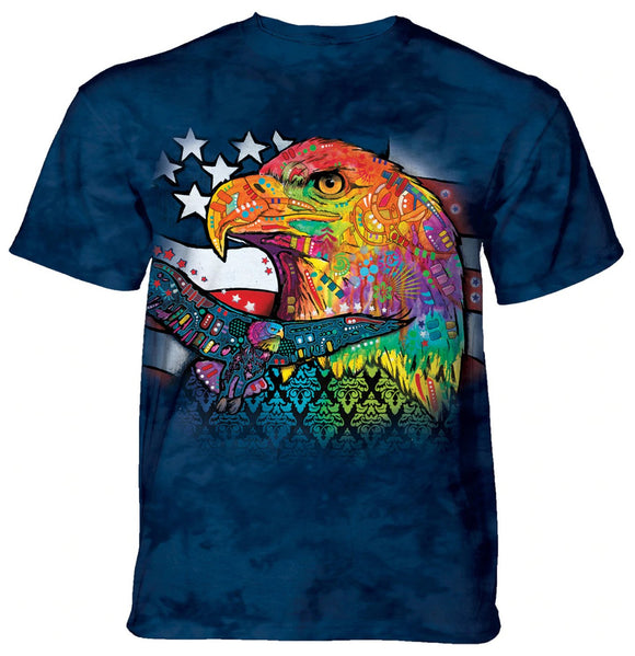 The Mountain - Eagle Patriot - Adult Unisex T-Shirt