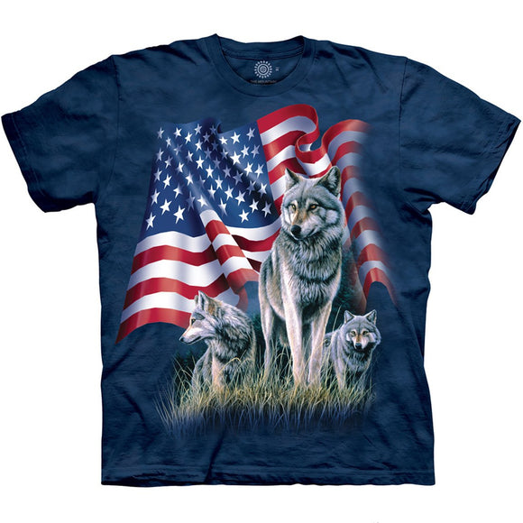 The Mountain Wolf Flag - T-Shirt