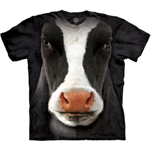 The Mountain Black Cow Face - T-Shirt