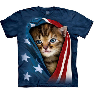 The Mountain Patriotic Kitten - T-Shirt