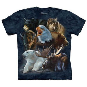 The Mountain Wild Alaskan Collage - T-Shirt