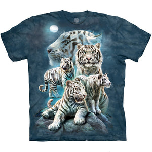 The Mountain Night Tiger Collage - T-Shirt
