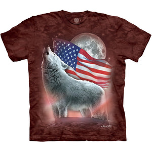The Mountain Patriotic Lights - T-Shirt