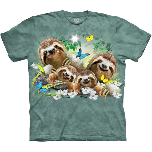 The Mountain Sloth Family Selfie - T-Shirt