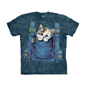 The Mountain Kitty Overalls - Kids' Unisex T-Shirt