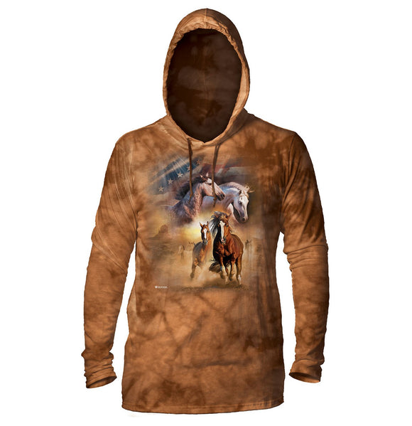 The Mountain - Born Free - Adult Unisex Lightweight Hoodie