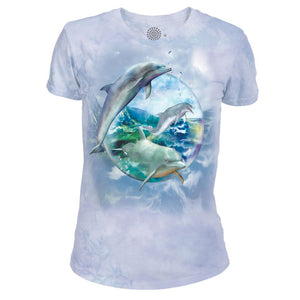 Dolphin Bubble - Women's Tri-Blend T-Shirt