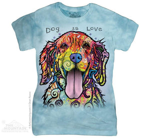 Dog Is Love - The Mountain - Women's Fitted 3D Dog T-Shirt