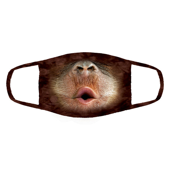 The Mountain - Big Face Baby Orangutan - Adult Unisex Face Mask
