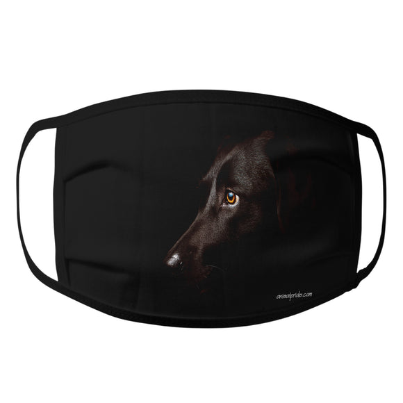Animal Pride - Black Lab Photo - Adult Unisex Face Mask