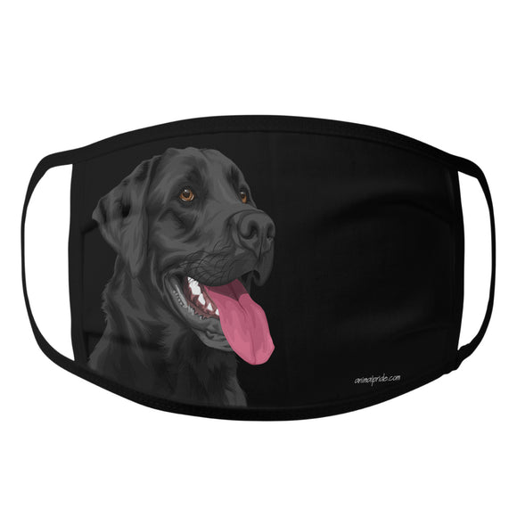 Animal Pride - Black Lab Graphic Illustration - Adult Unisex Face Mask
