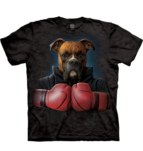 Boxer Rocky - The Mountain - 3D Dog T-Shirt