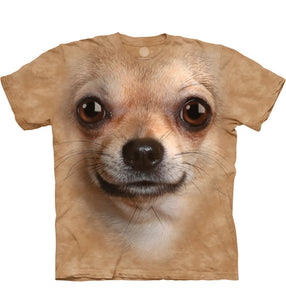 Chihuahua Face - The Mountain - 3D Dog T-Shirt