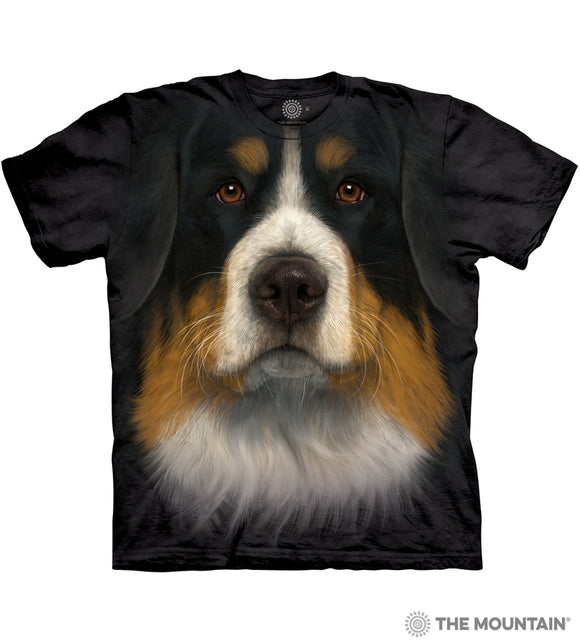 Bernese Mountain Dog Face - Adult Unisex T-Shirt