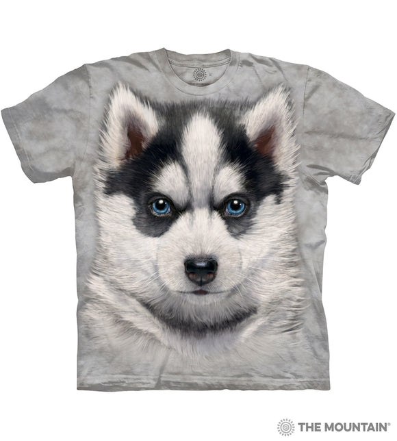 Siberian Husky Puppy - The Mountain - Kids 3D Dog T-Shirt