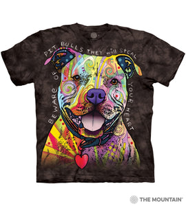 Beware Of Pit Bulls - The Mountain - 3D Dog T-Shirt