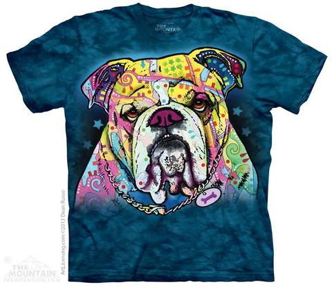 Colorful Bulldog - The Mountain - 3D Dog T-Shirt